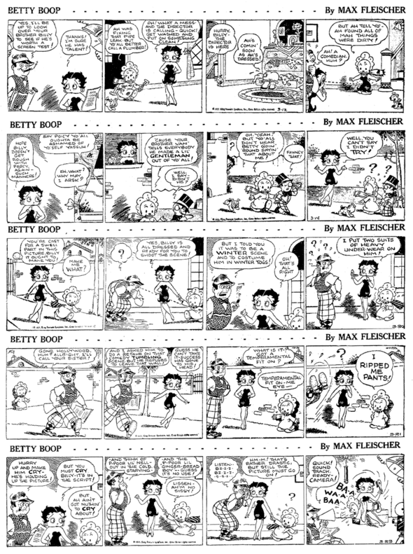 Betty Boop Sunday strip