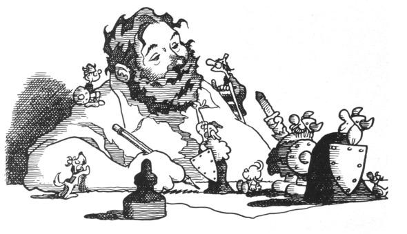 Dik Browne self-caricature