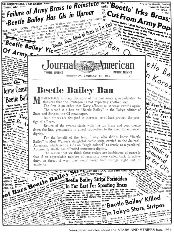 Banning of Beetle Bailey