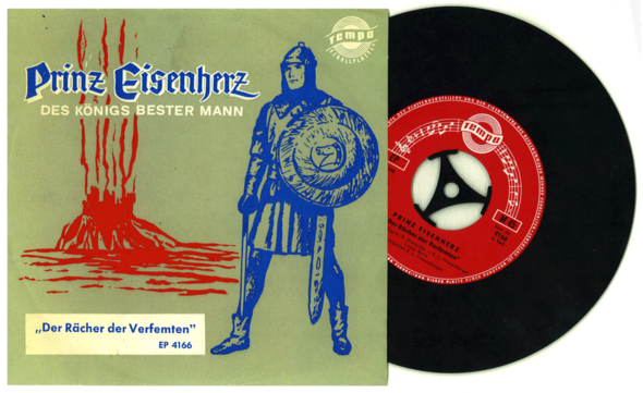 PRINCE VALIANT (as Prinz Eisenherz), a circa 1965 record for Tempo Schallplaten, Munich, West Germany.
