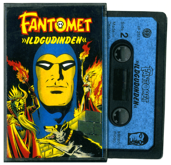 THE PHANTOM (as FANTOMET) does a cassette tape for A/S Interpresse in Denmark, 1979.