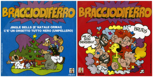 "The one on top shows the front and back covers. The two below include a Christmas special. Who knew the Italians sing ""Jingle Bells""?"