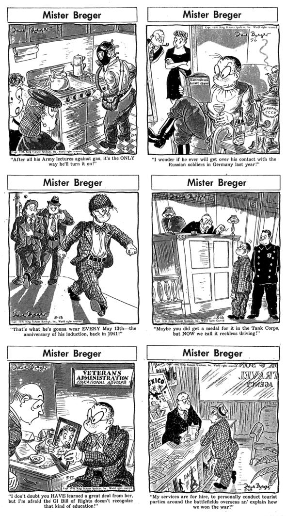 1946 Mister Breger: 15 April, 6 May, 13 May, 16 May,17 May, 18 May.