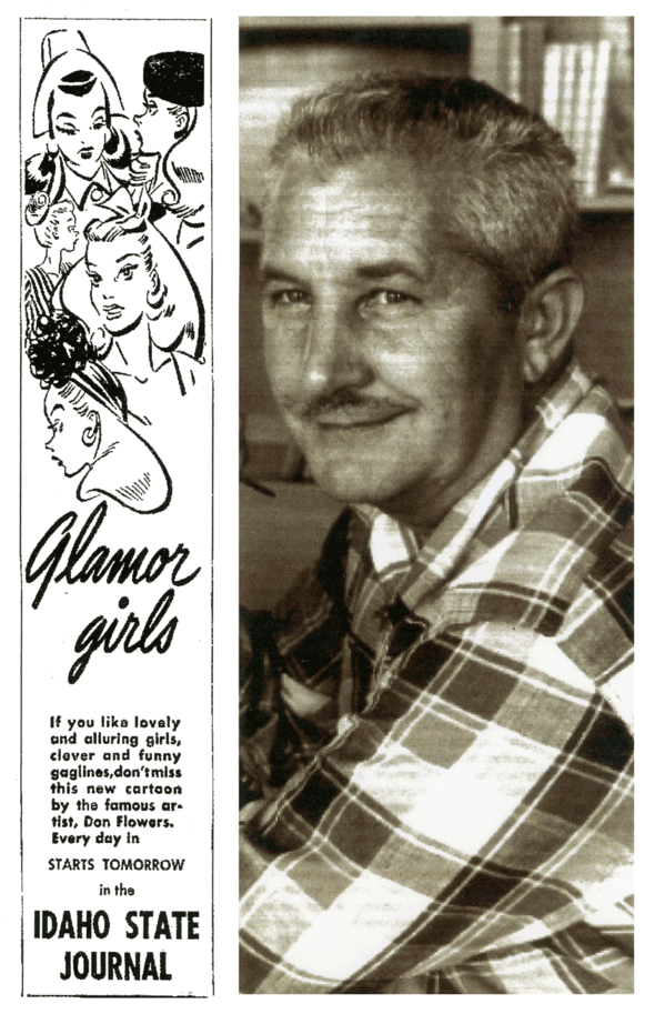 Don Flowers (1908- 1968) and Glamor Girls promo.