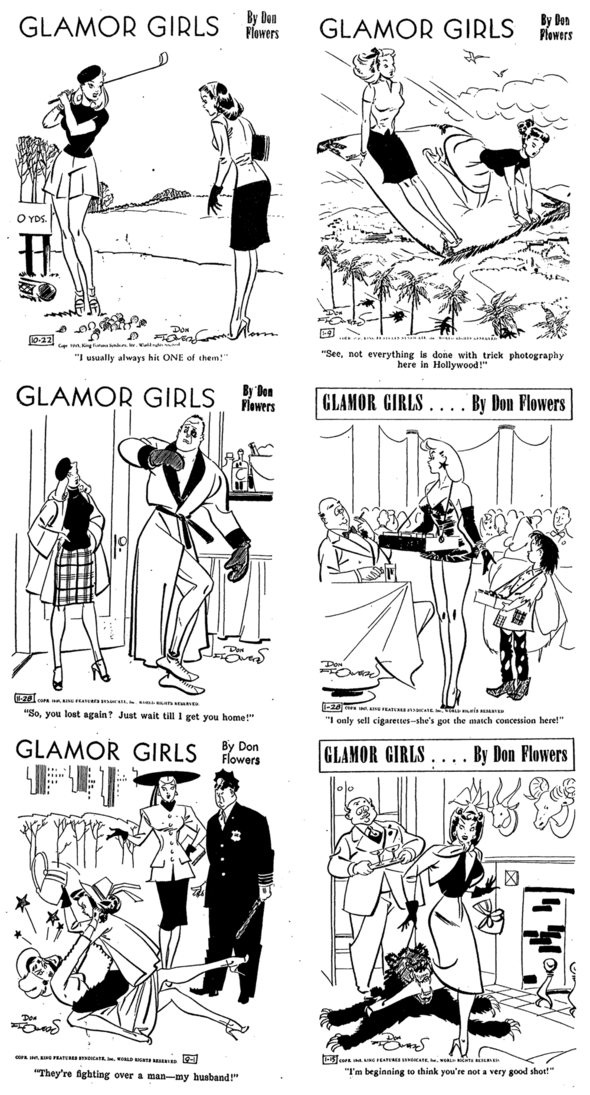 Glamor Girls Dailies 1945-1948