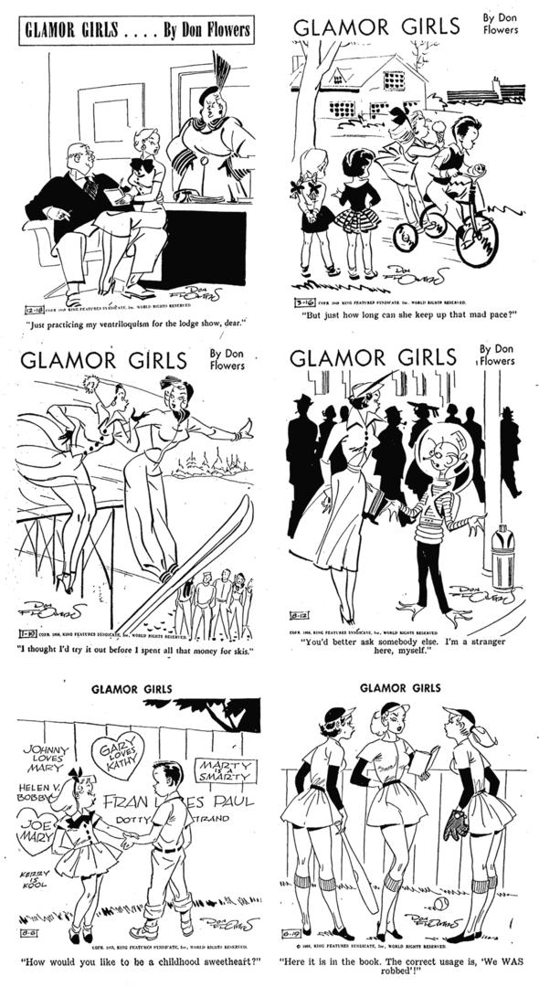Glamor Girls Dailies 1948-1956