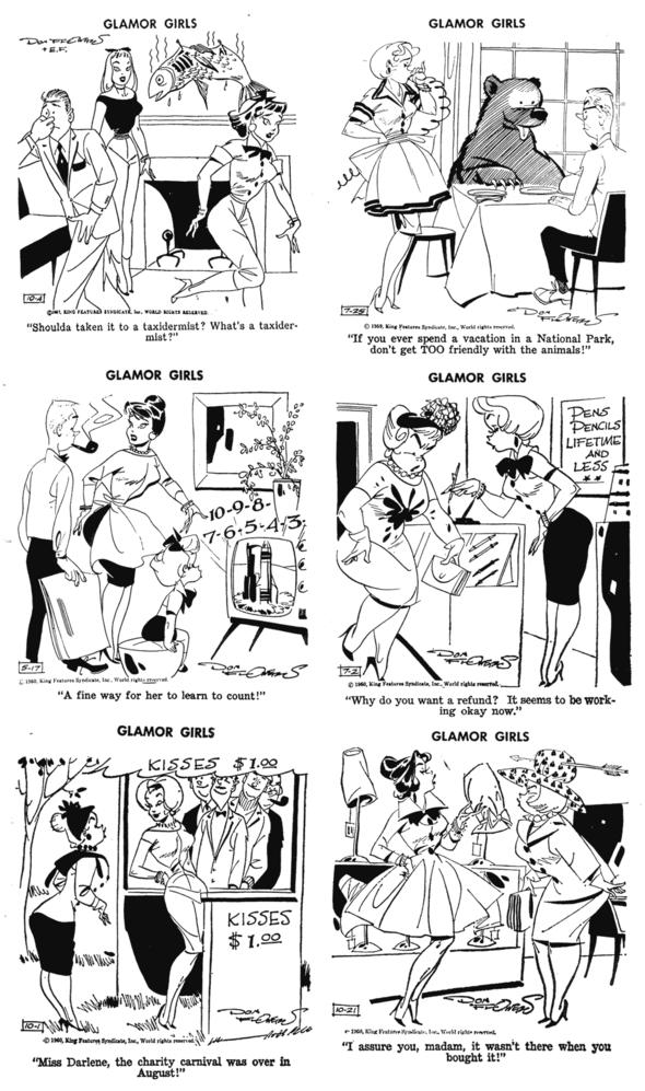 Glamor Girls Dailies 1957-1960