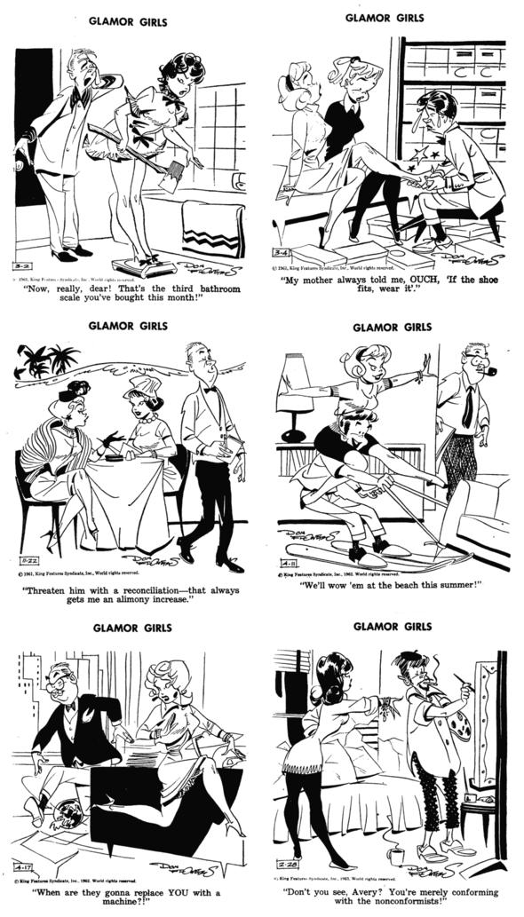 Glamor Girls Dailies 1961-1963