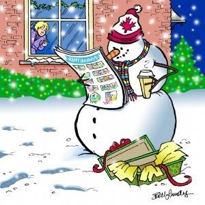 Torstar Christmas card by Sandra Bell Lundy