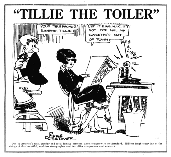 TILLIE THE TOILER PROMO, MID-1920s