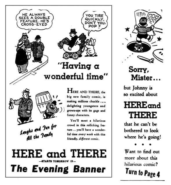 Promotional spots for HERE AND THERE, 1941