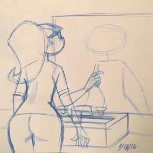 Sketch by David Reddick