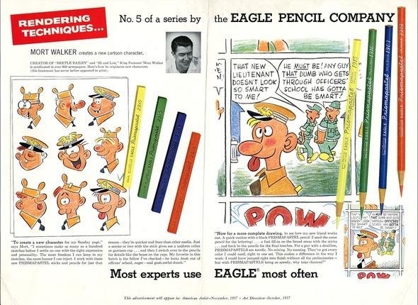 Mort Walker's early work in advertising