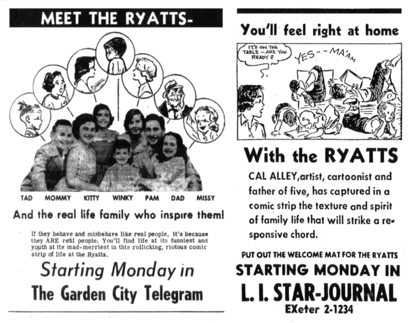 Two promos from when the strip began in 1954.