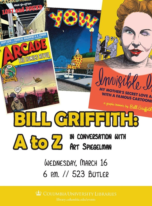 Bill Griffith will talk about Zippy and his new memoir