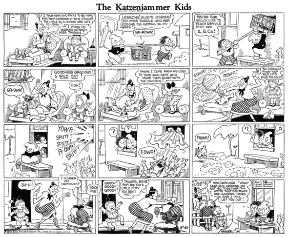 Katzenjammer Kids: The changing face of Lena, 31 May 1936.