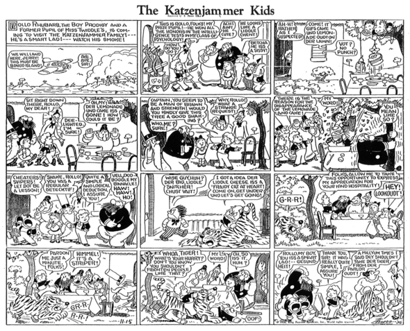 Katzenjammer Kids: Rollo takes his place on 15 November 1936