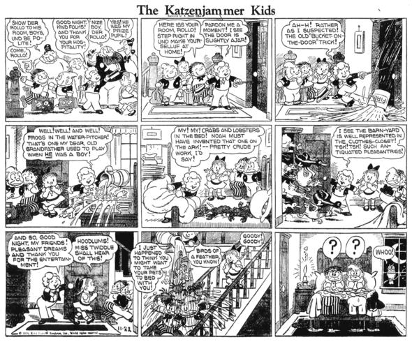Katzenjammer Kids: Rollo again on 22 November 1936