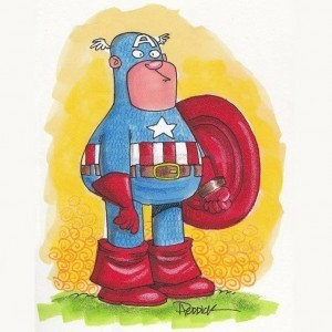 Captain America drawn