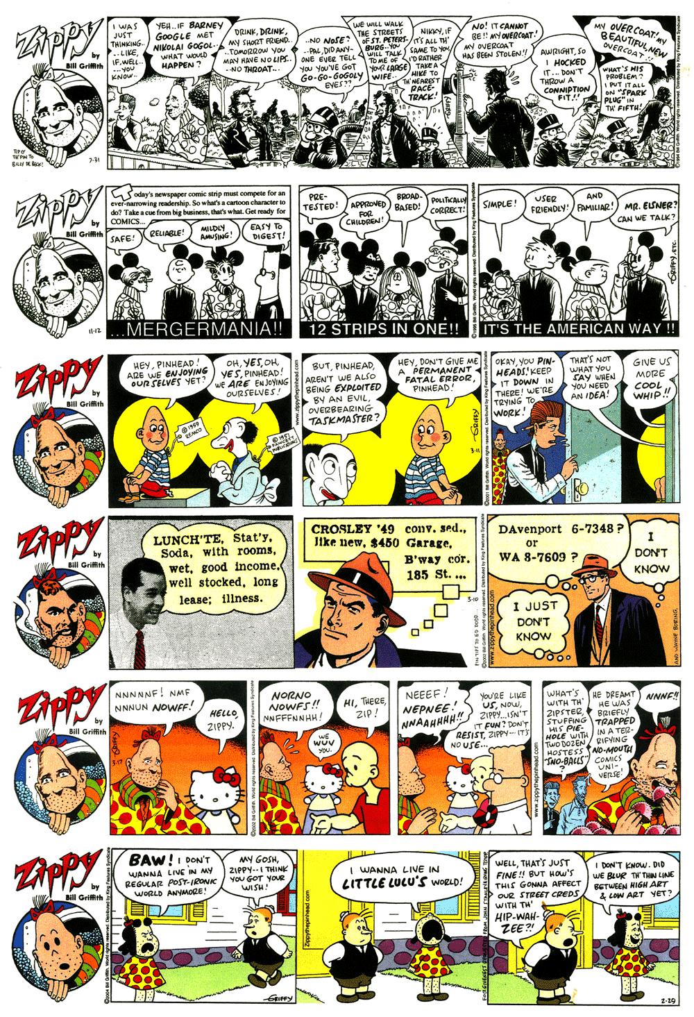 Comics Kingdom - Ask the Archivist: ZIP'S STRIPS - 2016-07-14