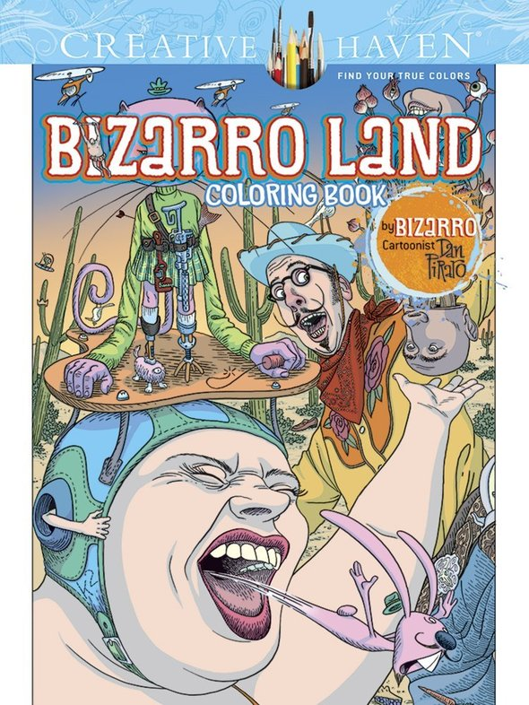 Dan Piraro's new coloring book comes out in October!