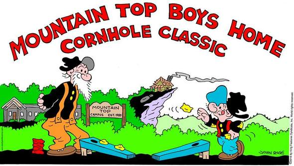 John Rose's logo art for The Mountaintop Boys Home Cornhole Classic