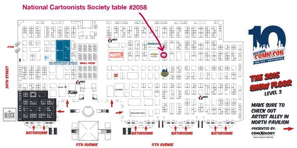 Bill Holbrook will be at the NY Comic Con!