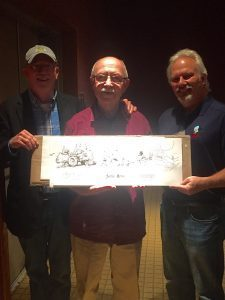Gary Brookins, Marcus Hamilton, and John Rose with special artwork created for the event!