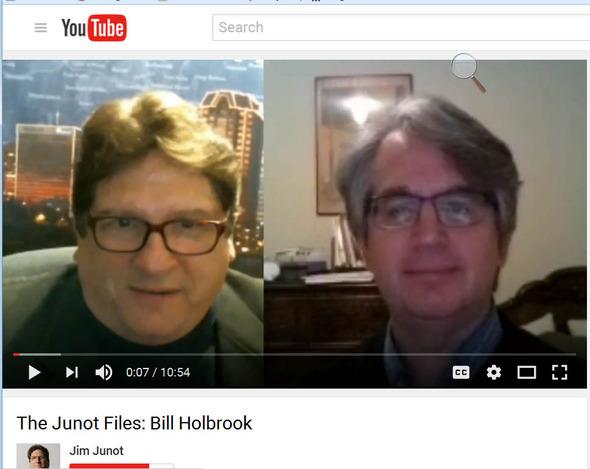 Jim Junot interviews cartoonist Bill Holbrook for his Junot Files show