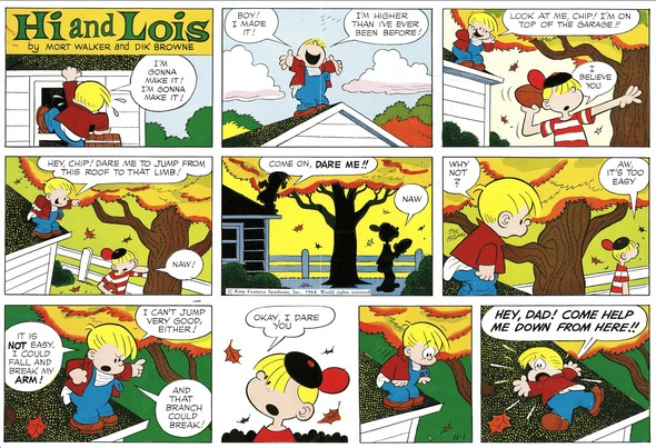 Hi and Lois Sunday page color proof, November 1, 1964