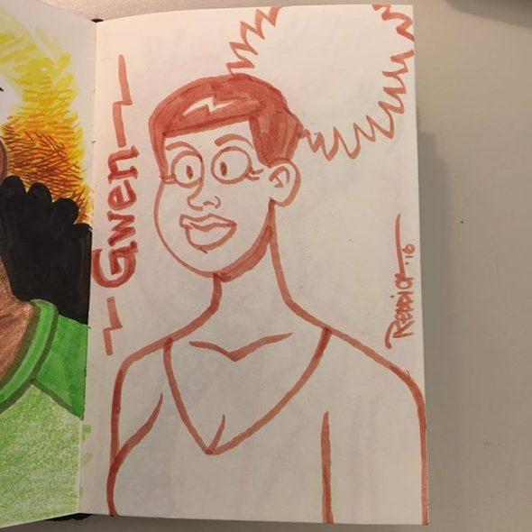 David Reddick sketches Gwen
