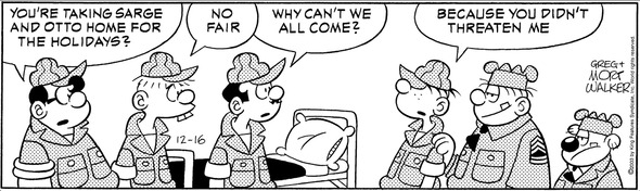Beetle Bailey, December 16, 2003