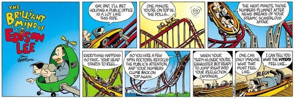 The first Edison Lee comic, Sunday, November 12, 2006.