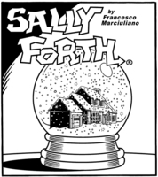 Sally Forth Sunday drop panel, February 5, 2017