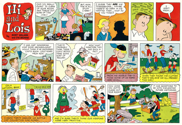 Hi and Lois Sunday page color proof, July 10, 1960.