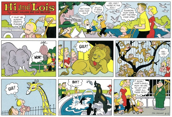 Hi and Lois Sunday page color proof, August 12, 1962