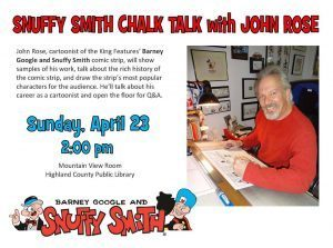 John Rose to give Snuffy Smith Chalk Talk