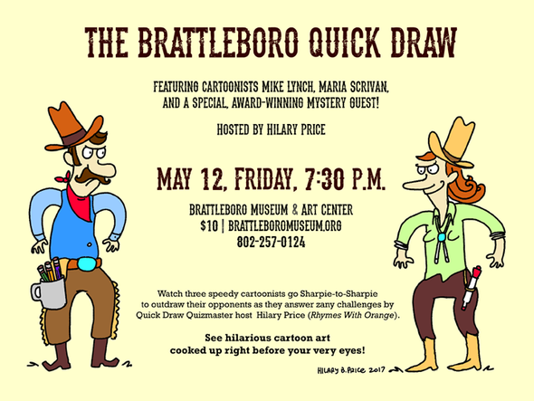 Hilary Price Quick Draw event
