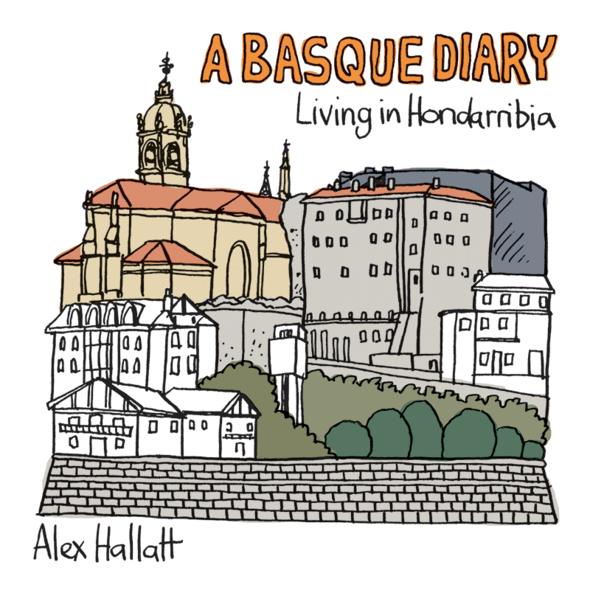 From Arctic Circle cartoonist Alex Hallatt's Basque Diary sketches
