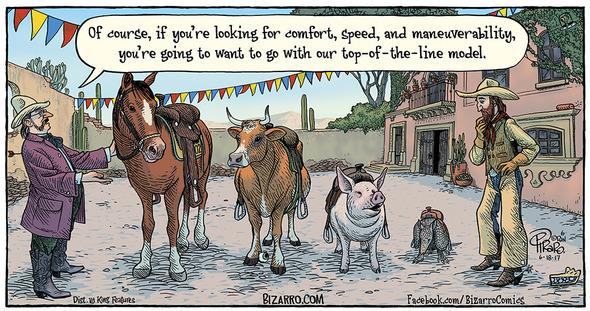 Bizarro and cowboys