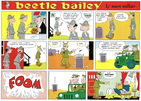 Beetle Bailey Sunday page color proof, May 7. 1967.