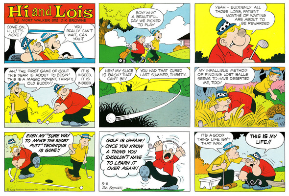 Hi and Lois Sunday page color proof, May 11, 1969.