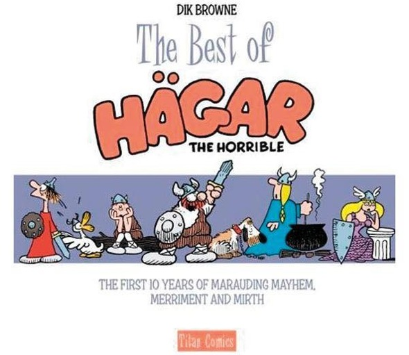 Chris Browne Signs The Best of Hagar