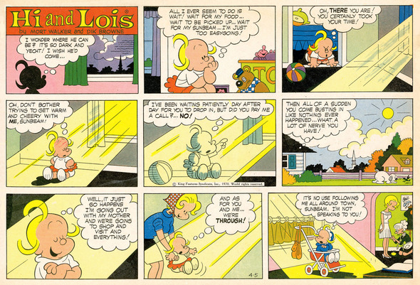 Hi and Lois daily strip, January 25, 1972.