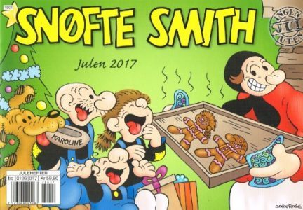 The 2017 cover for our Snuffy Smith Christmas Comic Book for our readers in Norway.
