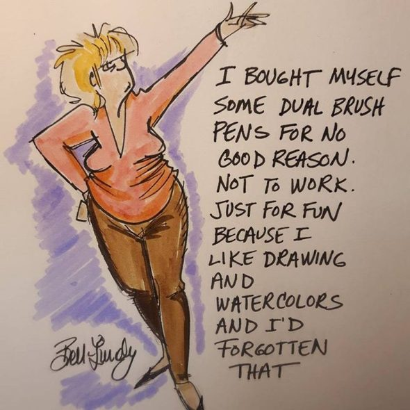 BETWEEN FRIENDS Cartoonist Sandra Bell-Lundy's New Year's Resolution